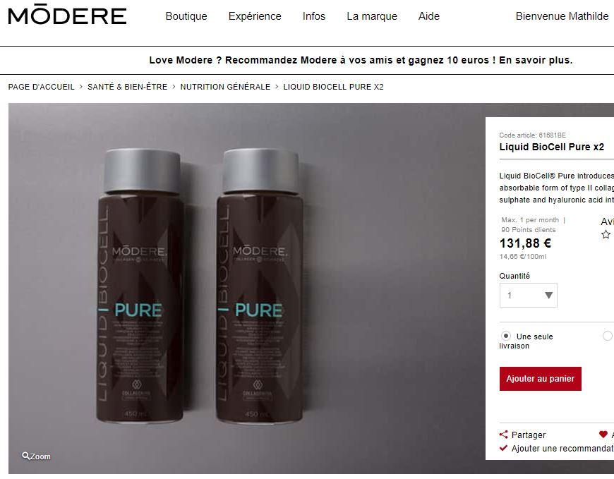 Modere Biocell Pure-acheter